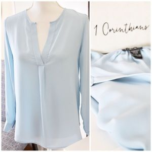 TIMING / Powder Blue Blouse
